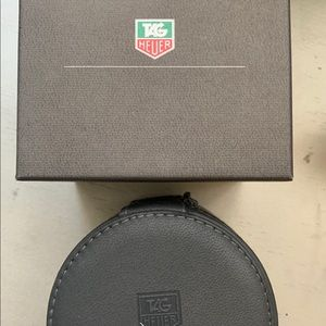 Tag Heuer watch box and zipper case pre owned